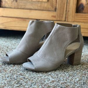 Report peep toe booties S9 neutral color